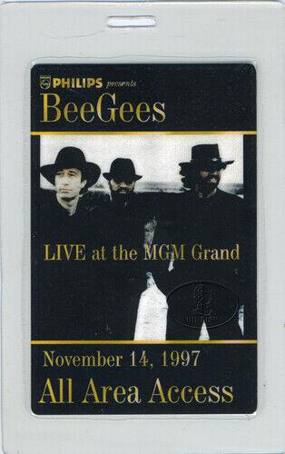 BEE GEES 1997 MGM GRAND LAS VEGAS LAMINATED BACKSTAGE PASS