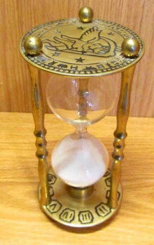 Vintage Brass Hour Glass Ebay
