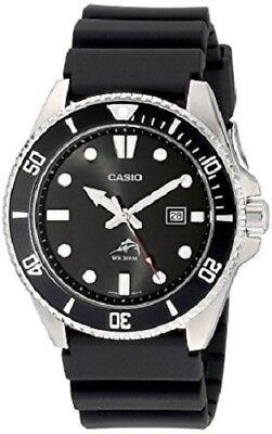 Black Bezel Watch - Casio Men's Quartz Diver Rotating Bezel Black Resin Band 44mm Watch MDV106-1A