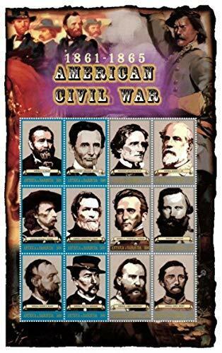 VINTAGE CLASSICS - Antigua 0205 American Civil War - Sheet Of 6 - MNH - $0.89