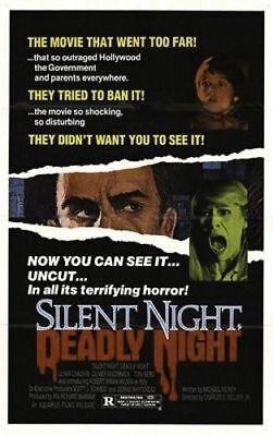 SILENT NIGHT DEADLY NIGHT ORIGINAL FOLDED MINT UNUSED 27X41 MOVIE POSTER HORROR