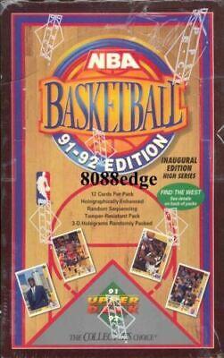 1991-92 91-92 UPPER DECK S2 NBA BOX: MICHAEL JORDAN/MUTOMBO RC+ JERRY WEST AUTO