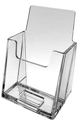 5-pack Premium Vertical Clear Business Card Holder Slant Back By Source One