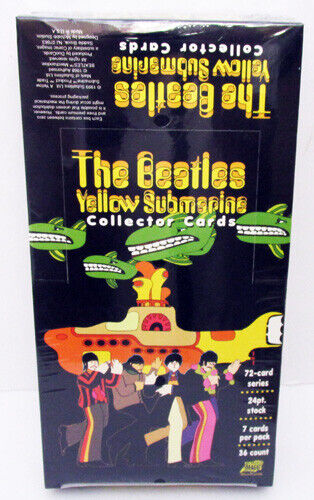 1999 BEATLES YELLOW SUBMARINE SEALED BOX OF 36 PACKS OF COLLECTORS TRADING CARDS