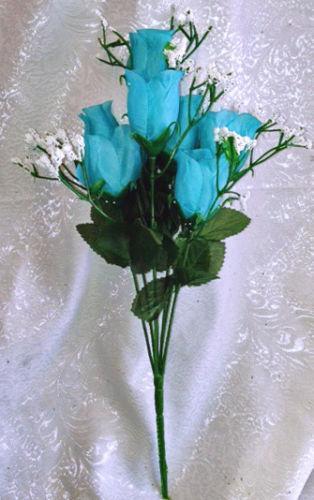 Teal Silk Flowers Ebay