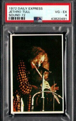 1972 JETHRO TULL CARD PSA 4  DAILY EXPRESS SOUND 72 POP 1 HIGHEST GRADE RARE