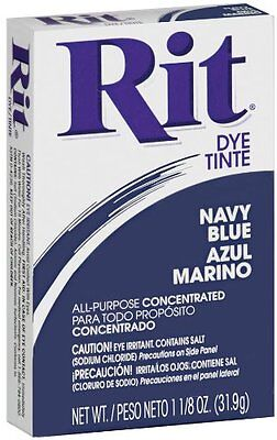 Rit Dye Powdered Fabric Dye All Purpose Concentrated Clothes Makeover Navy Blue