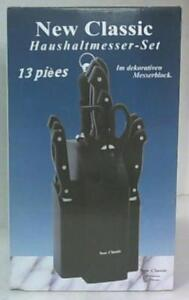 13pcs New Classic Household Knife and Block Set