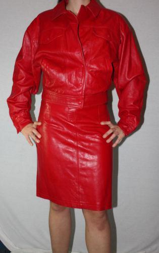 leather skirt suit ebay