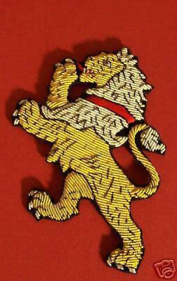 Medieval Lion Symbol (Custom Medieval Heraldry Lion Animal COA Arms Crest Rampant Bullion Patch)
