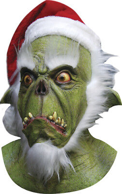 Green Evil Santa Grinch Adult Mask for Costume](Grinch Costumes For Adults)