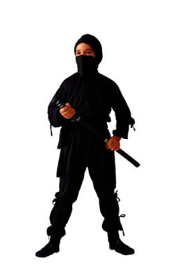 Samurai Costume Kids (BLACK NINJA CHILD BOY KIDS JAPANESE ASSASSIN SHINOBI SAMURAI WARRIOR)