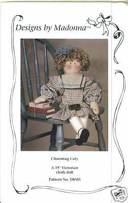 """PATTERN  TO MAKE 19"""" VICTORIAN CLOTH DOLL- UNCUT"""
