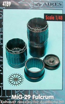 Aires 1/48 MiG-29 Fulcrum Exhaust Nozzles for Academy and Eduard kit 4189