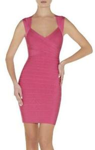 Herve Leger Sarai Hot Pink Dress XS