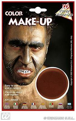 Brown Make Up In Tray Face Paint Halloween Fancy Dress Werewolf - Werewolf Face Paint Halloween