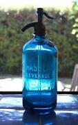 Vintage Blue Seltzer Bottle
