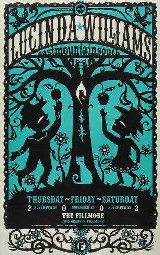 VERY RARE Lucinda Williams 2003 Fillmore SF Concert Poster Hugh D