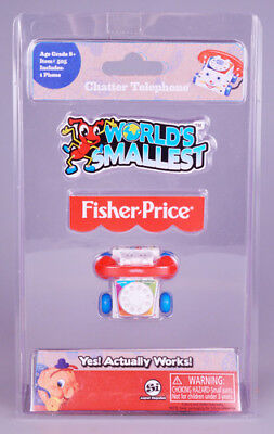 World's Smallest Fisher Price Classic Chatter Phone [New Toy] Toy, Choking Haz