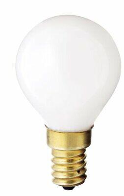 Satco S3398 130V E14 Euro Base 40-Watt G14 Light Bulb, Gloss - E14 Euro Base