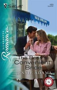 The-Boss-039-s-Convenient-Bride-1833-by-Jennie-Adams-2005-Paperback-LIKE-NEW