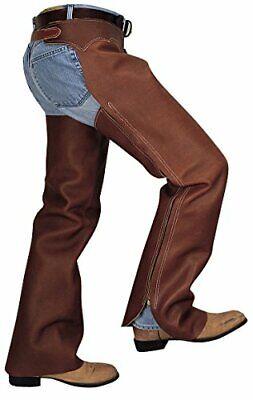 Weaver Leather Shotgun Full Grain Leather Work Chaps Brown Medium