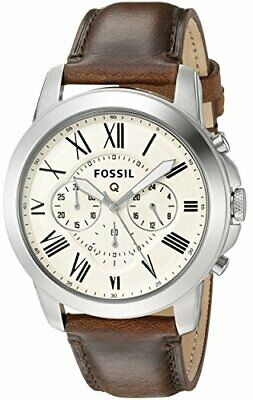 Fossil Q Grant Chronograph Dark Brown Leather Smartwatch- FTW10001