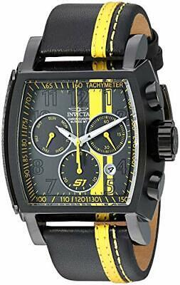 Invicta Men's S1 Rally Quartz Chronograph Black, Yellow Dial Watch 26397