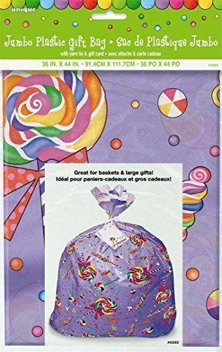 Jumbo Plastic Gift Bag 44X36-Candy Party