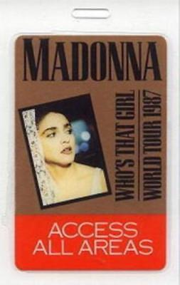 MADONNA 1987 WHO'S THAT GIRL TOUR ALL AREA LAMINATED BACKSTAGE PASS / NMT 2 MINT