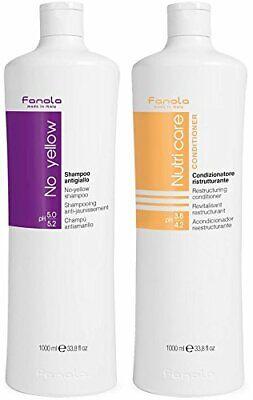 Fanola No Yellow Shampoo with Nutri Care Conditioner 1000 ml