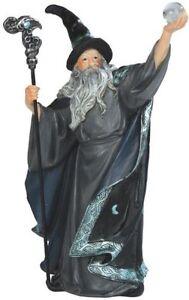 7 5 wizard w crystal ball magician fantasy decoration sculpture magic m - Merlin decoration bordeaux ...