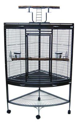 YML 3/4-Inch Bar Spacing Corner Wrought Iron Parrot Cage, 37-Inch by 26.5x62-...