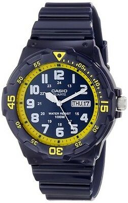(Casio MRW200HC-2B Mens 100M Blue Diver Classic Sports Watch NEW Resin GLOSSY )