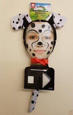 Kinder Tier Dalmatiner Modisches Kostüm-set Ohren, Schwanz & Make-Up - Dalmatiner Kostüm Ohren