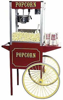 Paragon Theater Pop 6 Ounce Popcorn Popper Machine Cart Combo - Made In Usa