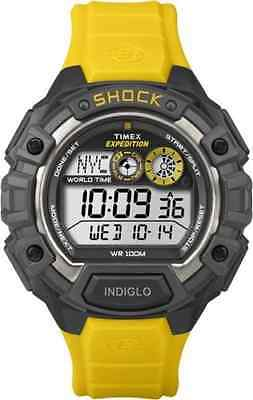 "Timex T49974, Men's ""Expedition"" Yellow Resin Watch, Shock Resistant, Indglo"