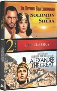 SOLOMON AND SHEBA + ALEXANDER THE GREAT New DVD Double Feature Yul Brynner