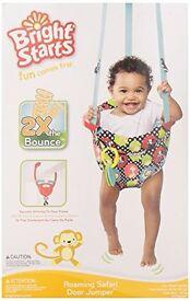 Bright starts Safari Baby door jumper - never used in box