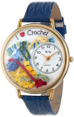 Whimsical Watches Unisex G0450011 Crochet Royal Blue Leather Watch