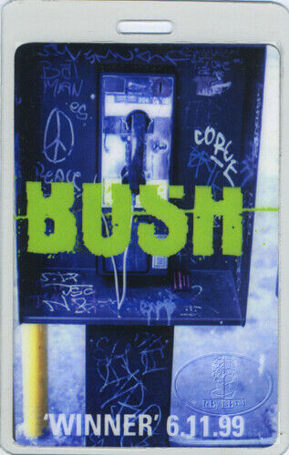 BUSH 1999 Tour Laminated Backstage Pass Gavin Rossdale