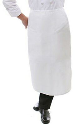 White Bistro Apron No Pocket Waiter Waitress Server Pro Grade Aprons 32 X 28