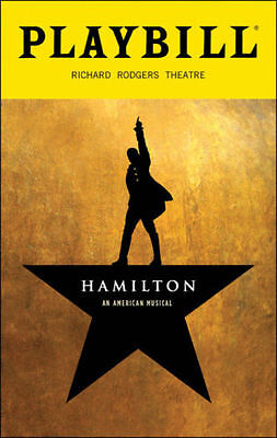 Lin Manuel Miranda's Hamilton Broadway Theatre Musical October 2016 Playbill NYC