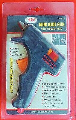 Mini Trigger Glue Gun - Mini Glue Gun Tool w/ Trigger Feed 110V/60Hz/10W & 2 Glue Sticks IIT #90560 NIP