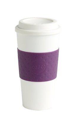 Copco 16-Ounce Capacity Acadia Reusable To Go Mug, Plum