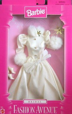 Barbie Bridal Fashion Avenue Fashions w Faux Fur Trim (1997)