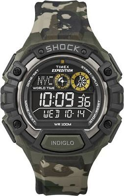 """Timex T49971, Men's """"Expedition"""" Camoflage Resin Watch, Shock Resistant,T499719J"""