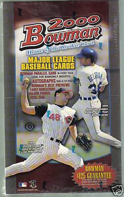 2000 BOWMAN BASEBALL FACTORY SEALED BOX 2000 Bowman Baseball Card