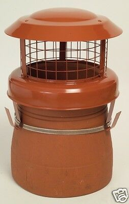 Cowl High Top Bird Guard Chimney Pot Solid Fuel Coal Fire Stove Gas Rain Solid Fuel Chimney
