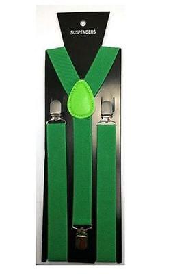 Grün Einfarbig Hosenträger 2.5cm Irisch Zubehör Kostüm Damen St Patrick's - St Patrick Tag Kostüm